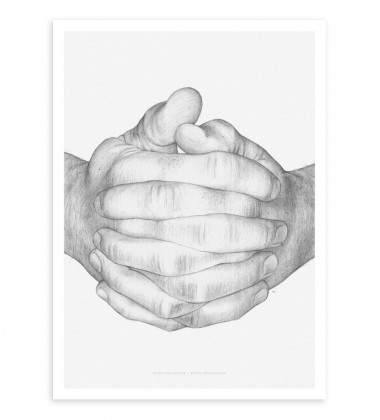 Folded Hands Poster 50x70