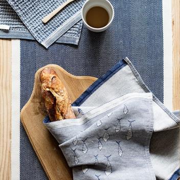Ścierka kuchenna Fisut 46x70 Biało-Niebieska