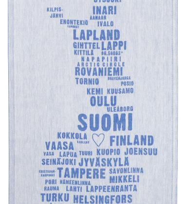 Ścierka kuchenna My Finland 46x70 Biało-Niebieska