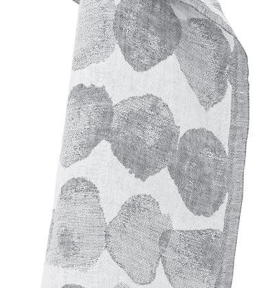 Ręcznik lniany SADE 48x70 Biało-Szary