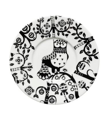 Taika Tea-Coffee-Cappuccino Saucer 15 cm Black