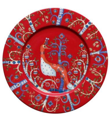 Talerz Taika 22 cm Czerwony