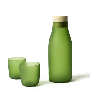 Gela and Gore Blown Glass Set Green