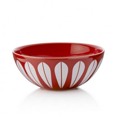 Misa z porcelany Lotus 24 cm Czerwono-Biała