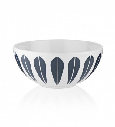 Lotus Bowl 24 cm White with Dark Blue Lotus