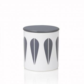 Pojemnik z porcelany Lotus H11 cm Biało-Szary
