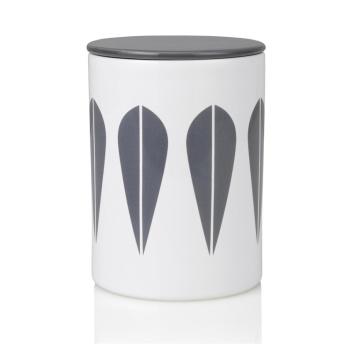 Pojemnik z porcelany Lotus H16 cm Biało-Szary