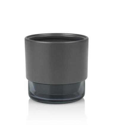 Doniczka ceramiczno-szklana Gro H12,5x13 Grafitowa