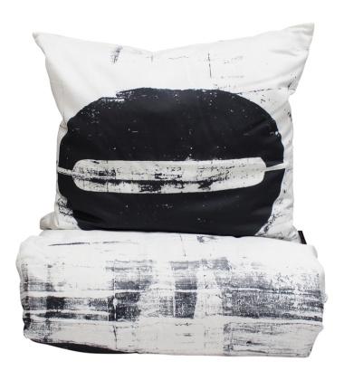 Life Cotton Satin Bedlinen 140x200 White-Black