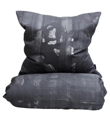 Black Cotton Satin Bedlinen 140x200 Black