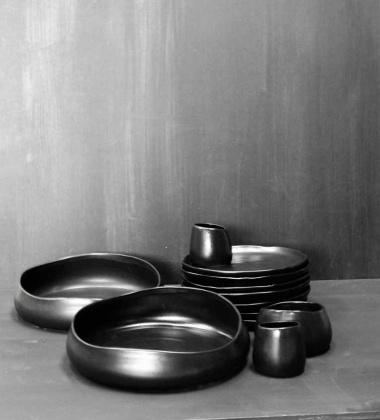 Misa ceramiczna do sałatek Stonewear 30x7 Czarna