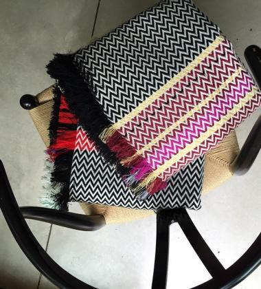 Bringeklut Bunad Blanket 130x200 Black-Violet