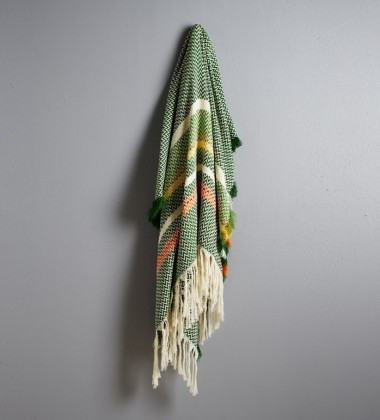 Gol Bunad Blanket 130x200 Green-Yellow