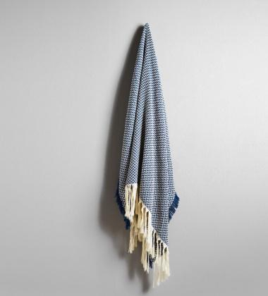 Solid Bunad Blanket 130x200 Blue