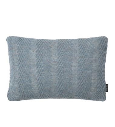 Poduszka Herringbone Alpaca 30x50 Błękitna