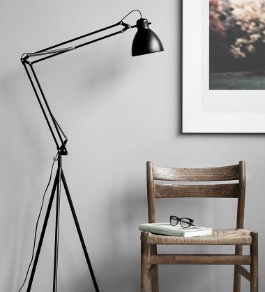 Lampa Podłogowa Stand H175 cm Czarna
