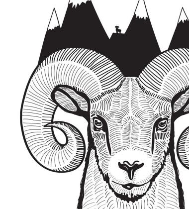 Poster A Ram Art Print 30x40