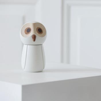 Drewniany Młynek do Soli The Snowy Owl