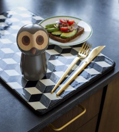 Drewniany Młynek do Pieprzu The Grey Owl