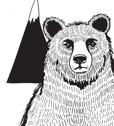 Poster A Bear Art Print 30x40