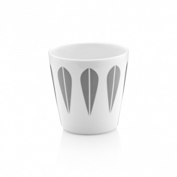 Kubek z porcelany Lotus Coffee 250 ml Szary