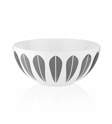 Misa z porcelany Lotus 24 cm Biało-Szara