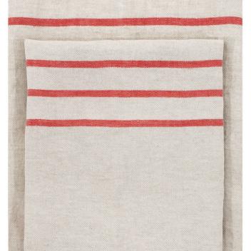 Ręcznik lniany USVA 70x130 Lniano-Czerwony
