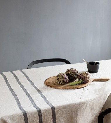 Obrus lub Narzuta USVA 150x260 Lniano-Grafitowa