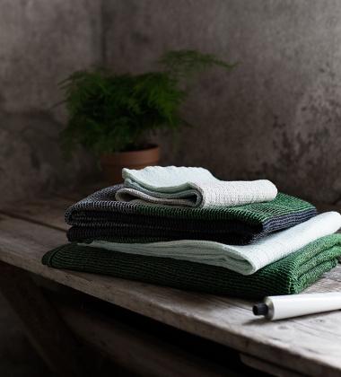 Ręcznik Terva 48x70 Czarno-Zielony