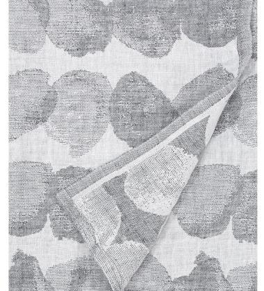 Ręcznik lniany SADE 95x180 Biało-Szary