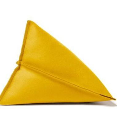 Poduszka z filcu Lily 44x44x35 Żółta 15