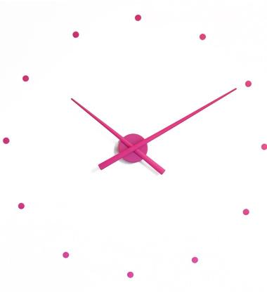 Zegar ścienny Oj Clock 80 cm Purpurowy