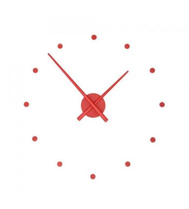 Zegar ścienny Oj Clock 80 cm Czerwony