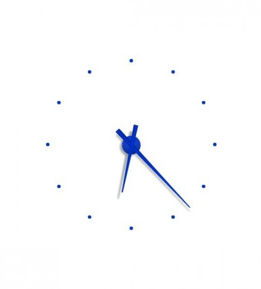 Zegar ścienny Oj Mini Clock 50 cm Niebieski