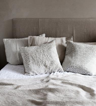 Poszewka na poduszkę Ruut 50x50 Biało-Lniana