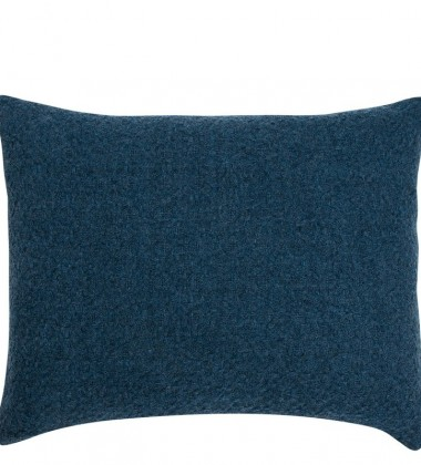 Poszewka na poduszkę  wełniana Corona Uni 50x40 Granatowa