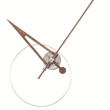 Zegar ścienny Cris 70 cm Orzech amerykański-Biały
