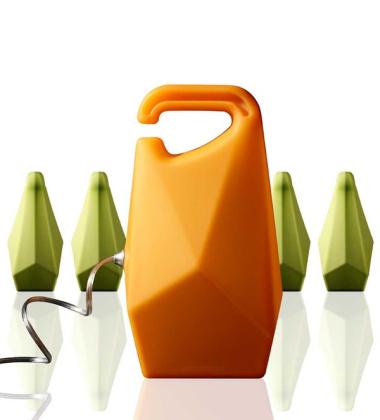 Lampa z silikonu Jerry Pomarańczowa
