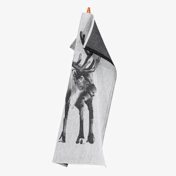 Ścierka kuchenna Poro X Teemu Jarvi 46x70 Biało-Czarna