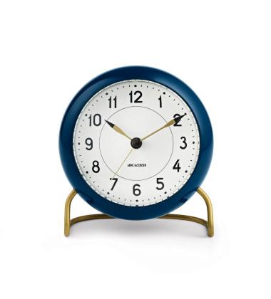 Zegarek Budzik AJ Table Clock Niebiesko-Złoty
