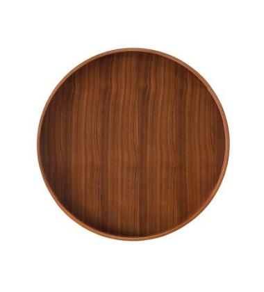 Stolik - Taca Drum Tray 47 cm Orzech Amerykański