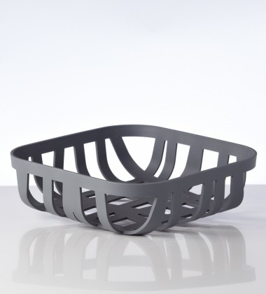 Wicker Bread Basket Dark Grey