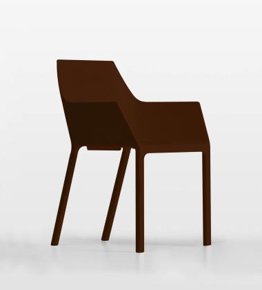 Krzesło z tworzywa MEM Brązowe