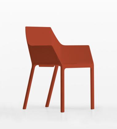 Krzesło z tworzywa MEM Czerwień Koralowa