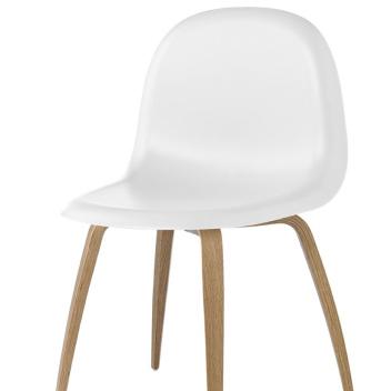 Krzesło 3D HiRek Dinning Gubi 5 Białe-Dąb