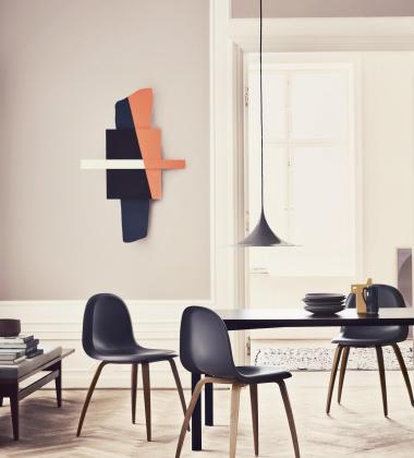 Krzesło 3D HiRek Dinning Gubi 5 Czarne-Orzech