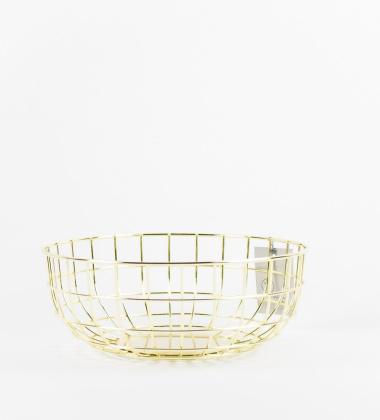 Kosz Norm Wire Bowl 25 cm Mosiądz