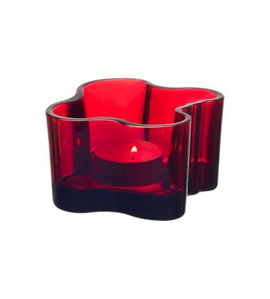 Świecznik Aalto Votive 55x102 mm Czerwony