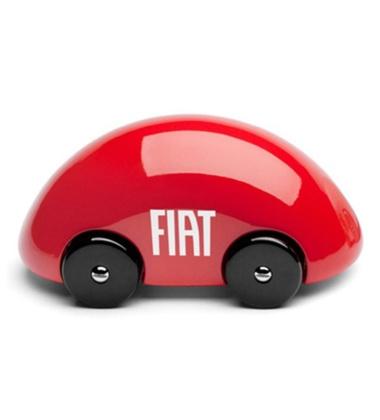 Samochodzik z drewna Streamliner Classic Fiat Czerwony