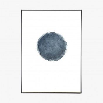 Blue Water Moon Poster 50x70